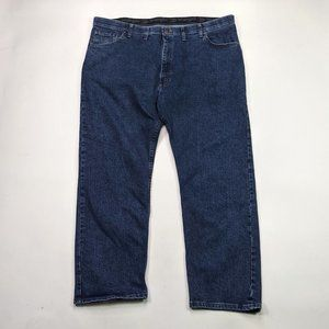 Wrangler Regular Fit Mens Size 44 X 30 Dark Wash